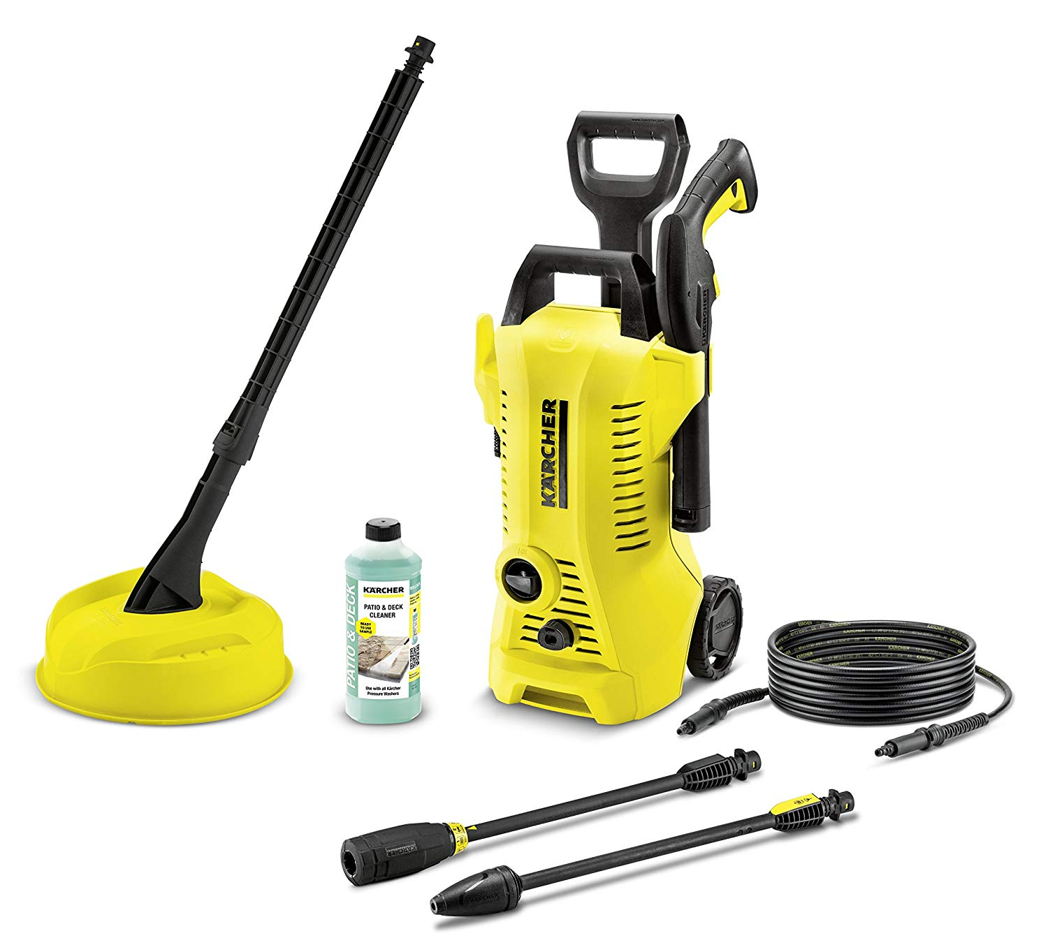 Karcher K2 compact car & home pressure washer bundle — 1400w, 110 bar