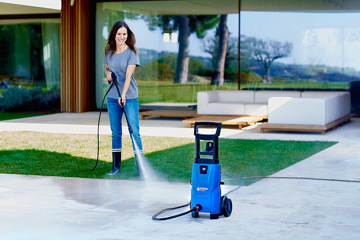 Nilfisk c 120 Bar Pressure Washer with Patio Cleaner