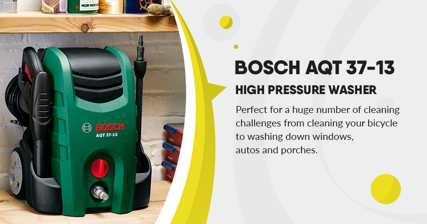 Bosch AQT 37-13 High Pressure Washer the total cleaning solution for windows, bikes and cars. Review
