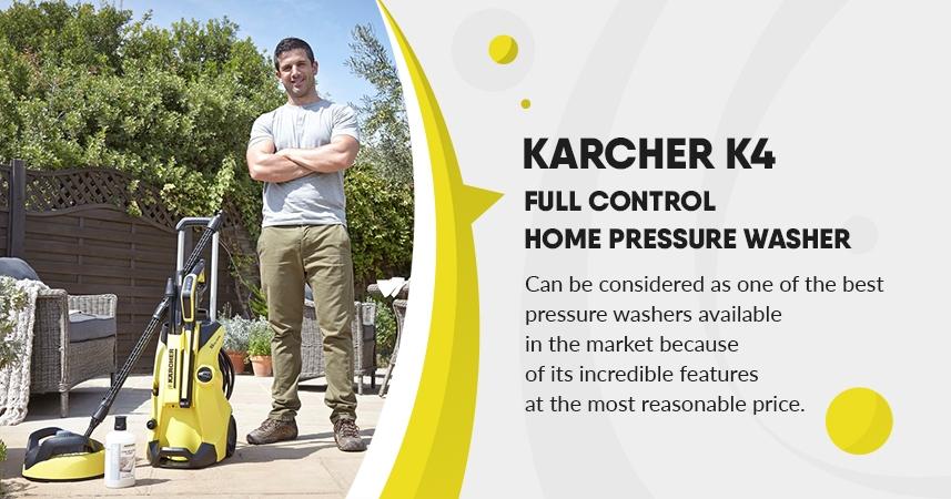 Karcher K4 Full Control Home Pressure Washer – 1800w