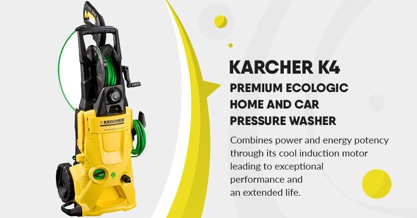 Karcher K4 Premium Ecologic Home and Car Pressure Washer – 1800w