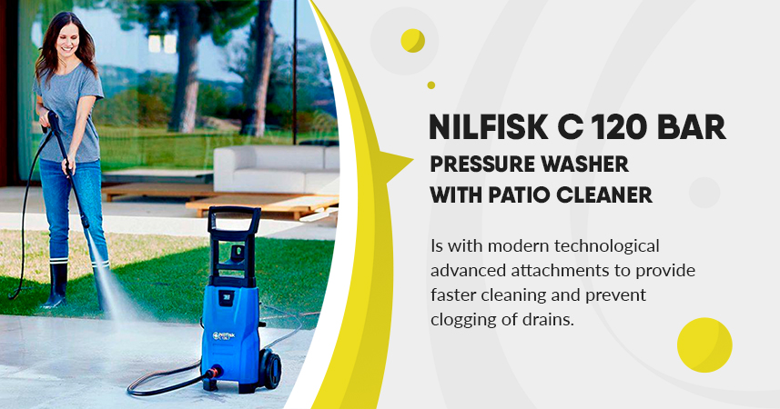 Nilfisk c 120 Bar 120.7-6 Pressure Washer with Patio Cleaner Review