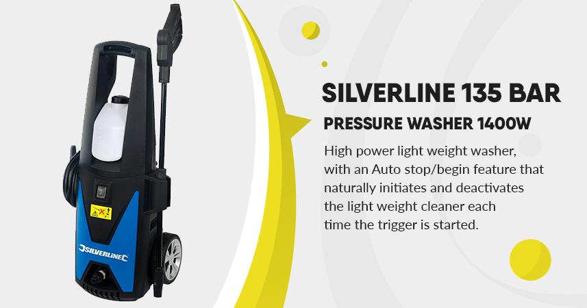 Silverline 1400w pressure washer 135 bar review