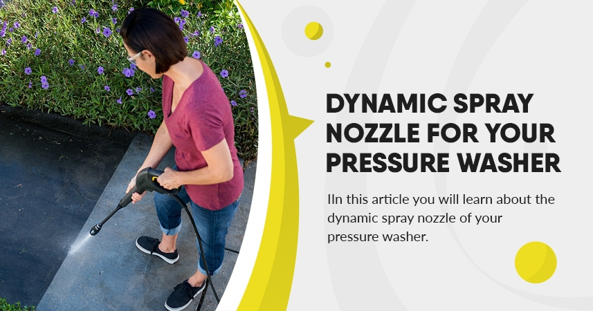 Dynamic spray nozzle for your pressure washer